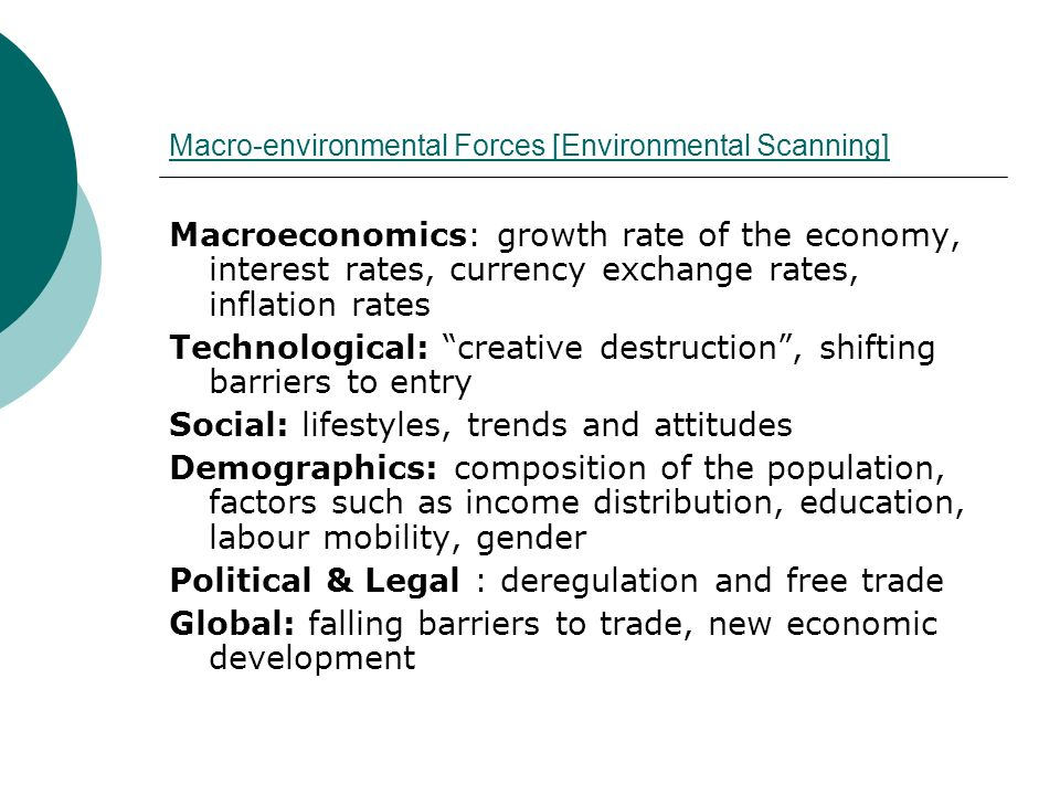 Macro-environmental Forces [Environmental Scanning]
